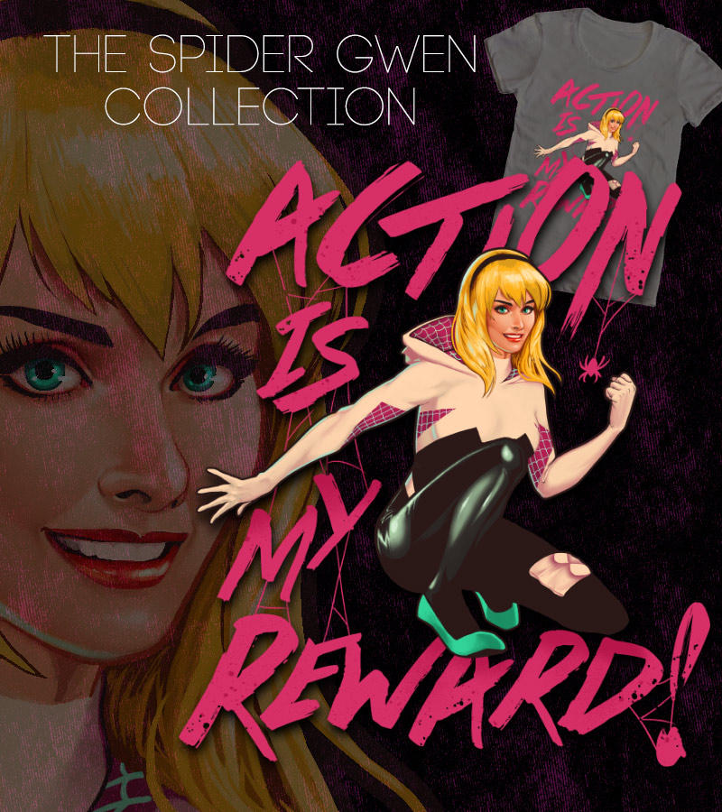 Spider Gwen Action Reward by ninjaink