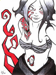 Blood and tattoo by Etherick