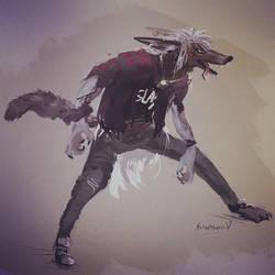 Hard Rock Werewolf by ShadowKiwi