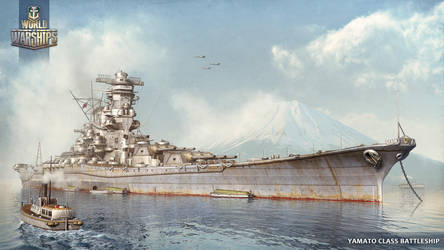 Yamato Battleship World of Warships illustration by KrIM-art