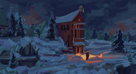 Snowscape by ChrisPaints