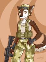 Commission-Armed huskie by SkyKain