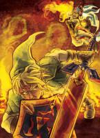 Link vs Twinrova by AudGreen