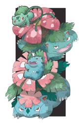 Bulbasaur Evolve by AudGreen
