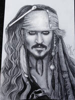 Jack Sparrow portrait by misslepard