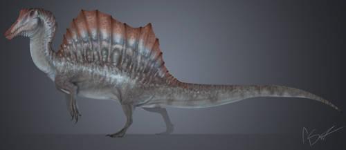Jurassic Park 3 spinosaurus by GoldenNove