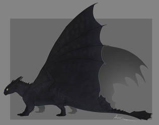 Toothless by GoldenNove