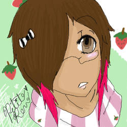 Renn likes strawberries by Renee-darkmistress