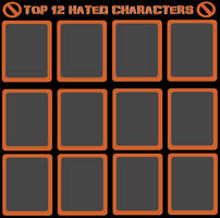 Top 12 Hated Characters by jacobyel