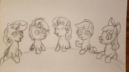 NATG VIII A Redraw of A Pony Mingling by TasticDragon