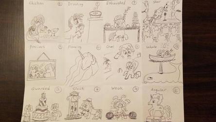 Inktober Catch Up: Days 5-16 by TasticDragon