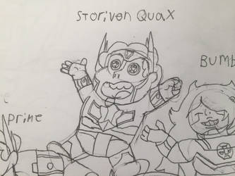 Steven universe/Orion Pax fusion no Color by Hulk61