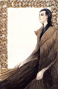 Loki with feather Cloak by litzebitz