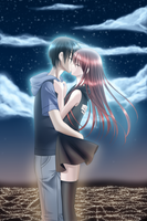 The Kiss by Murasaki-Hana