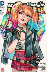 Punk Harley Quinn by rianbowart
