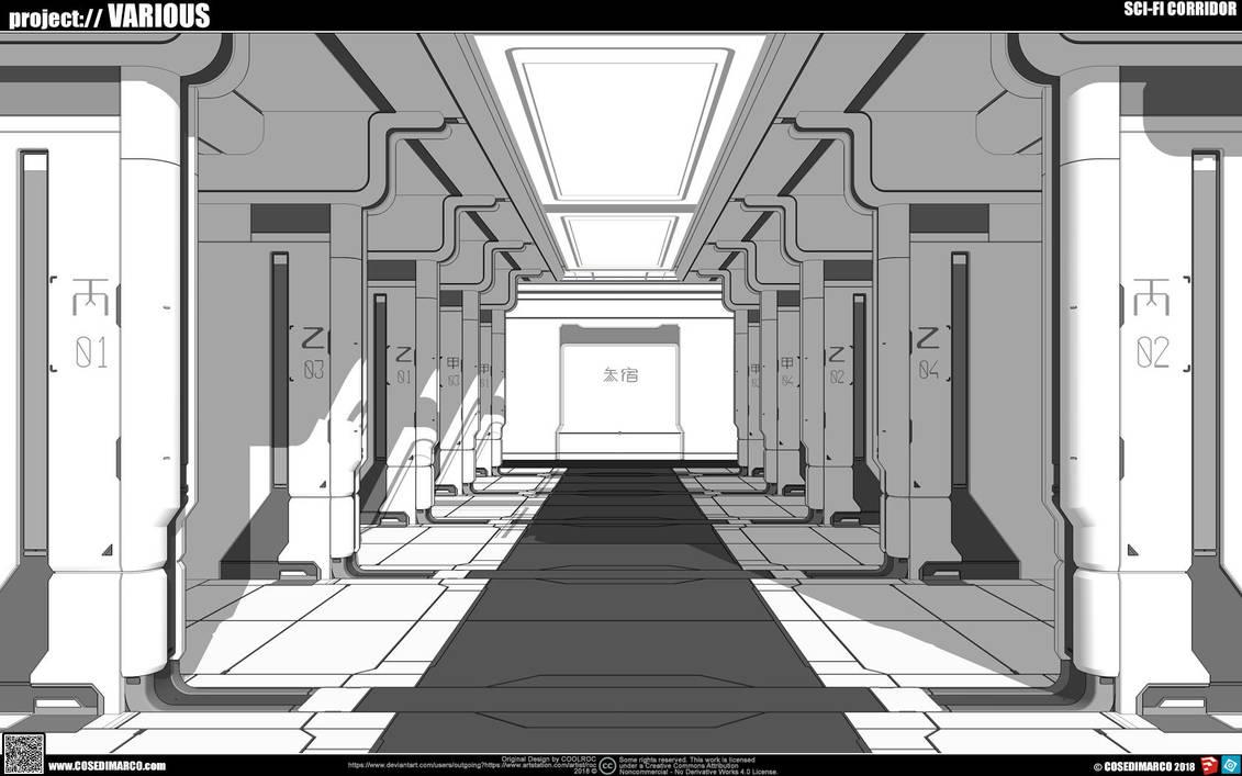 Sci-fi Corridor by cosedimarco