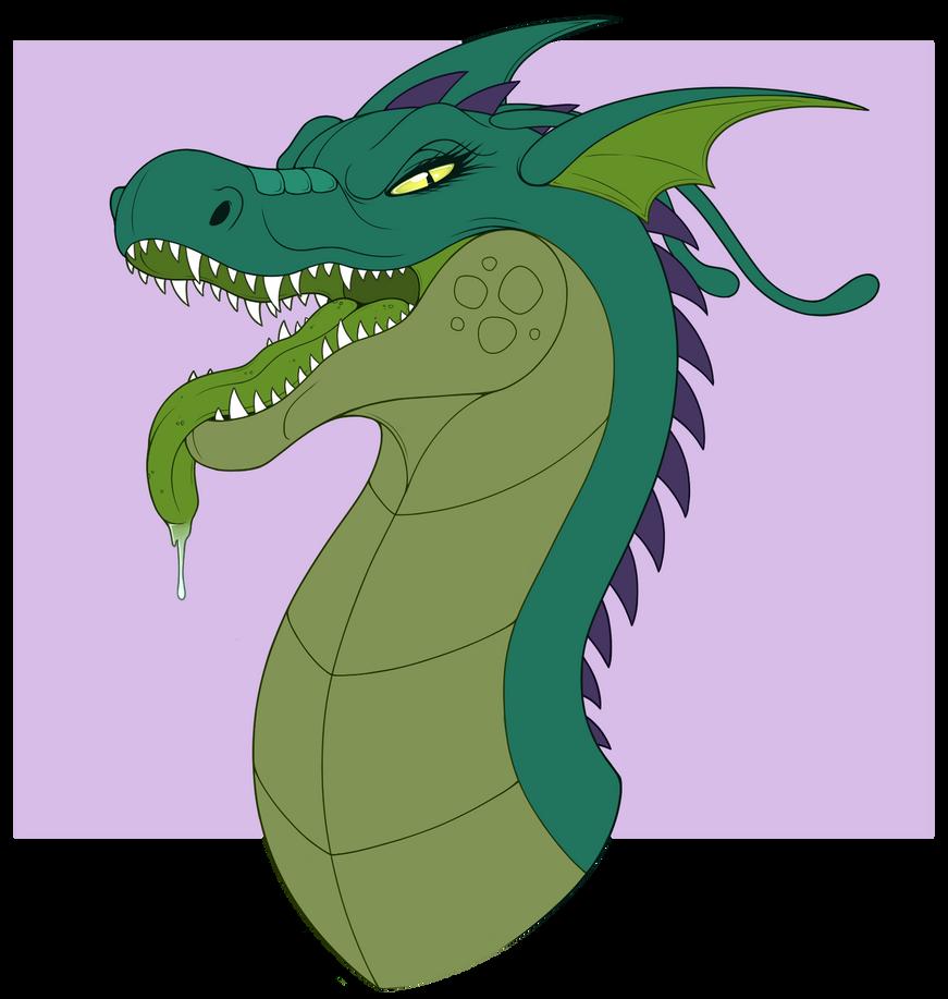 Flat Colored Headshot of Terra! RAWR! by PixieCatAdopts