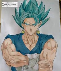Super Saiyan Blue Vegito by kurosaki720