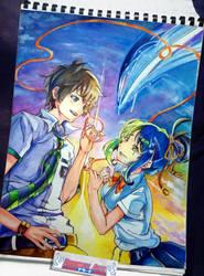 Kimi No Na Wa [ Your Name ]   Makoto Shinkai by kurosaki720