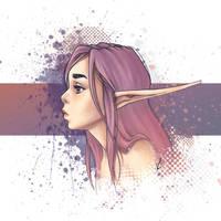 Purple splashes by MKmiec