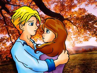 Maya and Dominic by PuffyMumuDodi