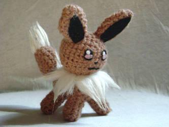 Crochet Eevee 2 by xXShilowXx