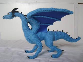 Crochet Dragon Luind 2 by xXShilowXx