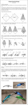 Origami Narwhal Instructions by DonyaQuick