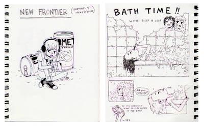 New Frontier Sketchbook 01 by HannaKN