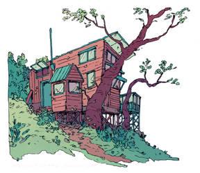 Cottage Sketch by HannaKN