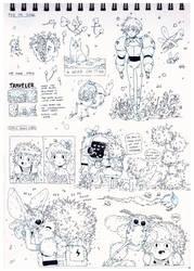 Sketchbook 2016 p05 by HannaKN