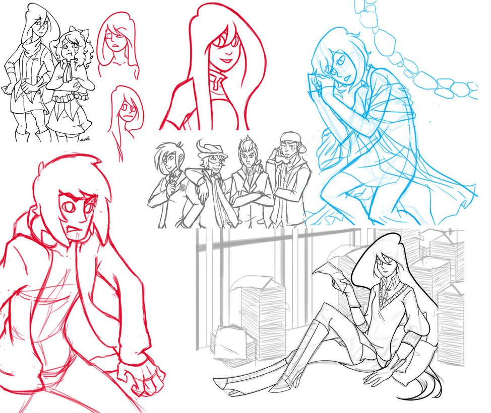 Sketch Dump:1-15-12 by VeloursRose