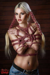 Hairbondage - 2 rope Braids - Fine Art of Bondage by Model-Space