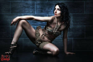 Rope dress, tied girl - Fine Art of Bondage by Model-Space