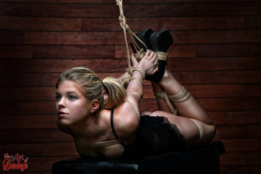 Hogtied Beauty - Fine Art Of Bondage by Model-Space