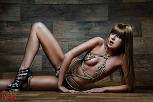 Tied, Rope Bikini - Fine Art Of Bondage by Model-Space