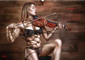 Beauty of Rope II - Fine Art of Bondage - Calendar by Model-Space