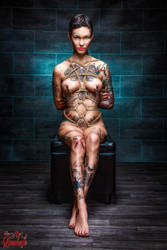 1107-Tattoo-Clamps-Tied-Up-Fine-Art-of-Bondage by Model-Space