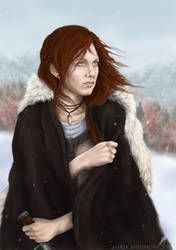 Redhead by Yellow-eyes