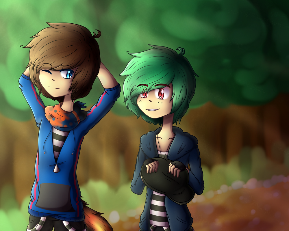 OC/Gift | Walk in the woods by GemLox7