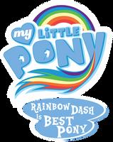Fanart - MLP. My Little Pony Logo - Rainbow Dash by jamescorck