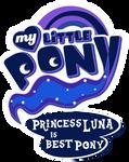 Fanart - MLP. My Little Pony Logo - Princess Luna by jamescorck