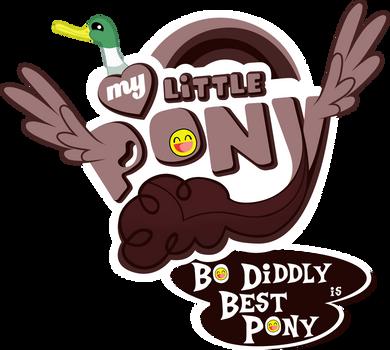 Fanart - MLP. My Little Pony Logo - Bo Diddly by jamescorck