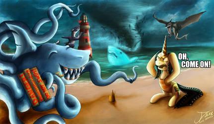 Movie Slate - Corman Month, Sharktopus 2 and 3 by jamescorck