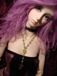 BJD Green Rosary Necklace by bitemekthx