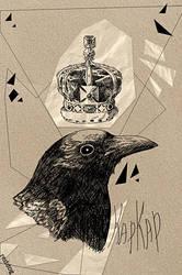Paper raven by 66reddog