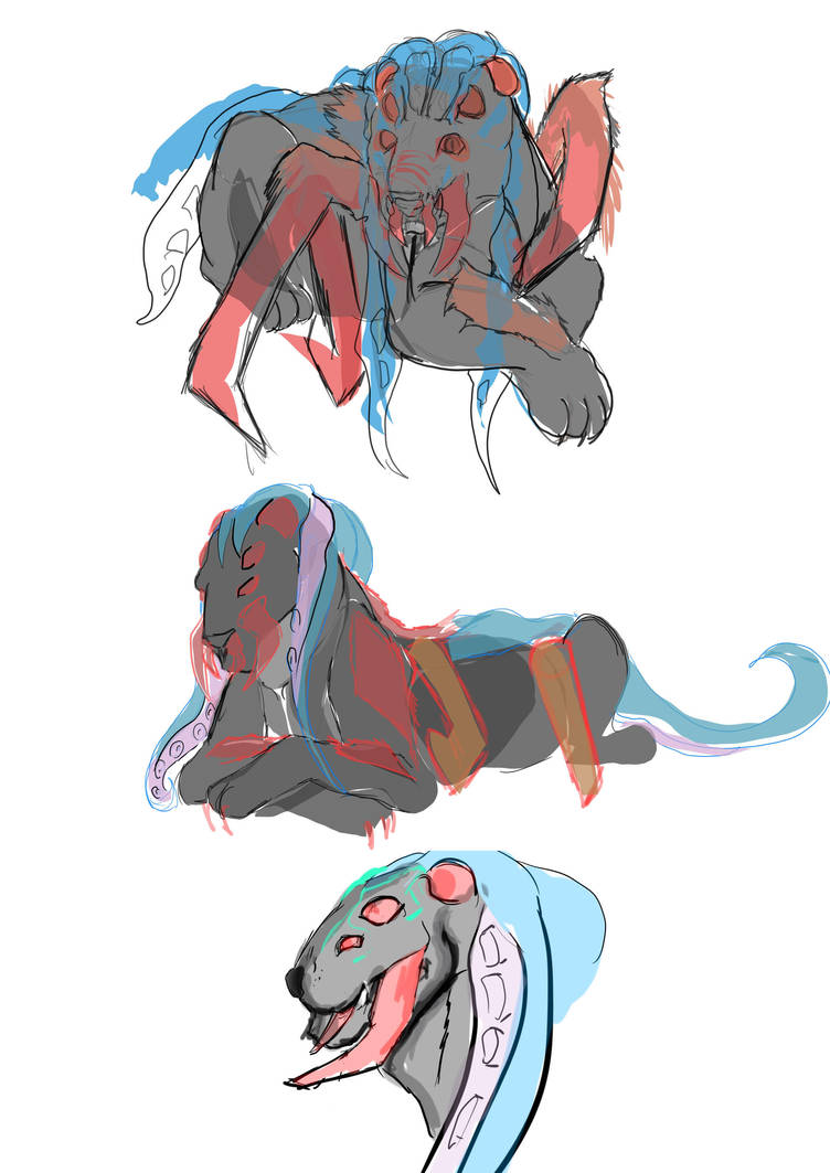 Baghiira Sketches by Deimonday