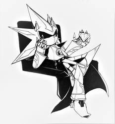 Inktober 16 - Neo Metal Sonic by Deimonday