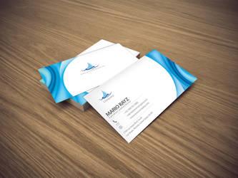 Tsunami wave business card 1 by Lemongraphic