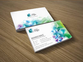 Cubic crystal business card by Lemongraphic